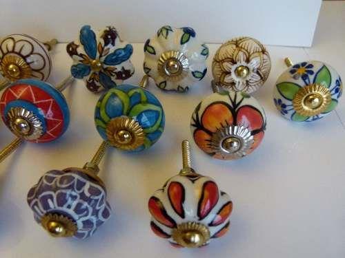 Tiradores de ceramica manijas para puertas y cajones deco ceramica pinterest dresser knobs - Tiradores para cajones ...