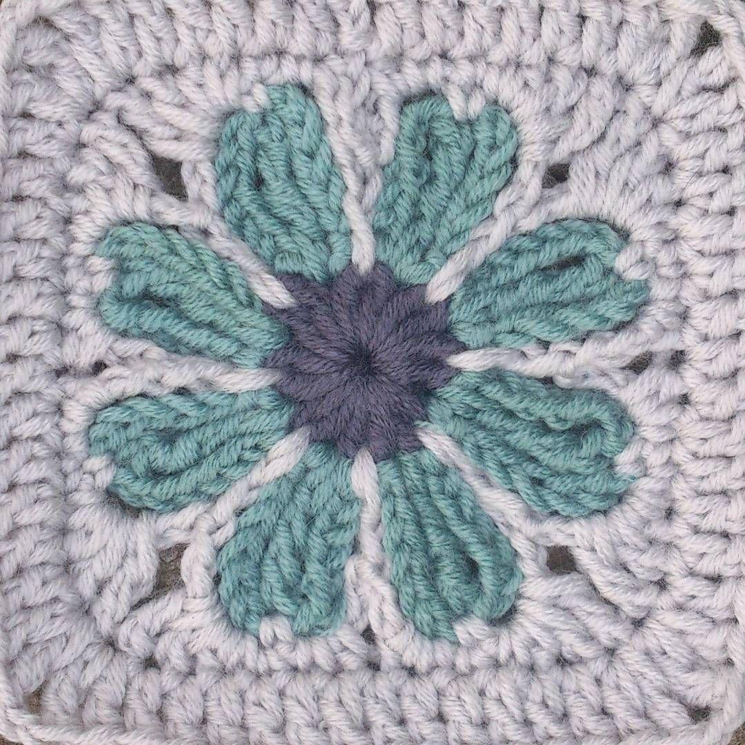Flower crochet granny square | Crochet - Squares | Pinterest ...