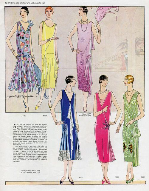 Le Miroir Des Modes - November 1925