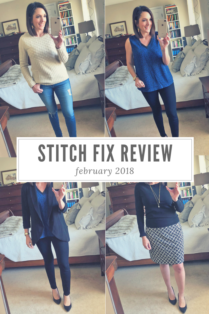 cf43b7cf20 February 2018 Stitch Fix Review featuring 41 HAWTHORN Valentina Faux  Leather Trim Blouse