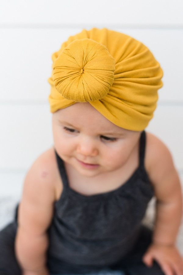 4f7d6db1 Baby Top Knot Turban | Baby Girls Fall Wardrobe | Baby turban, Baby ...