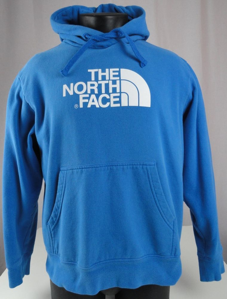 The North Face Mens L Hoodie Sweatshirt Blue Kangaroo Pocket
