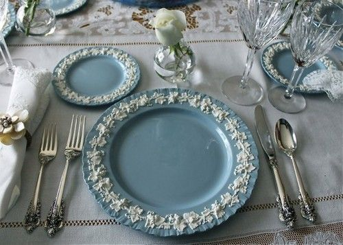Wedgewood Place Settings Wow Wedgewood China Blue Table