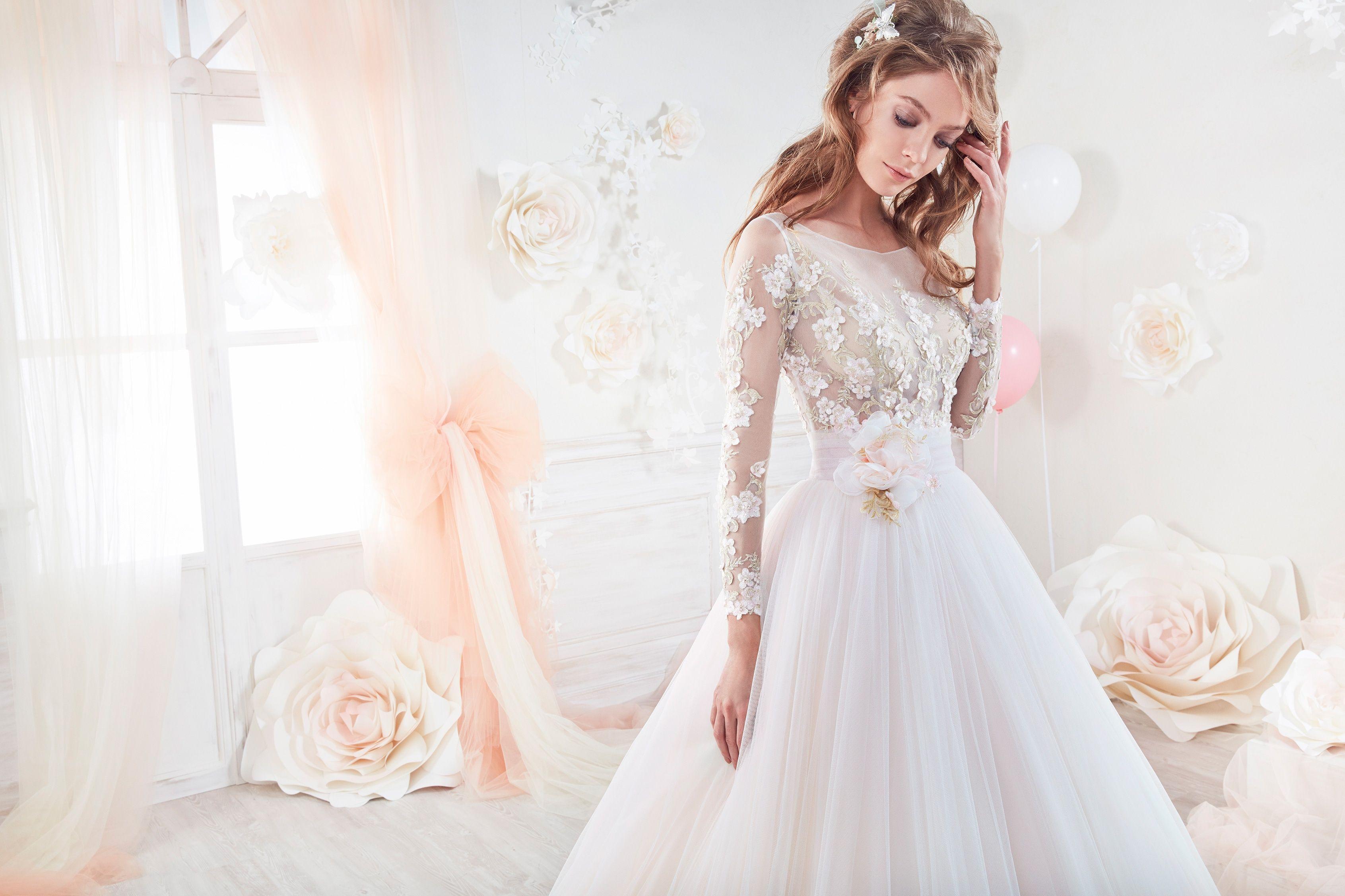 Pink and ivory wedding dress  nicolesposeCOABColetmodasposag
