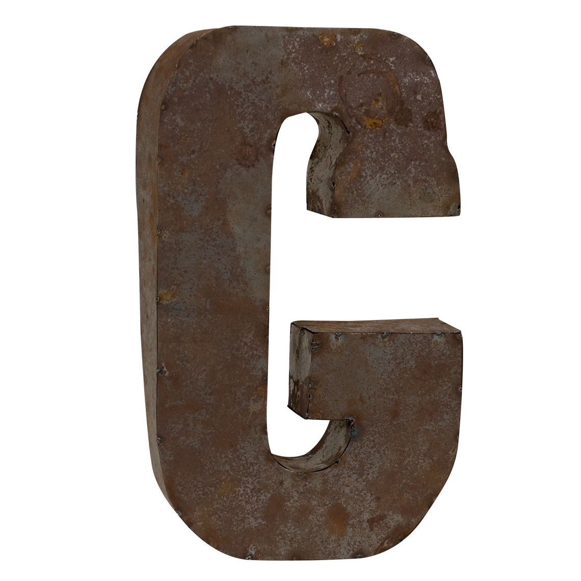Reclaimed Metal Letters Tin Letter G