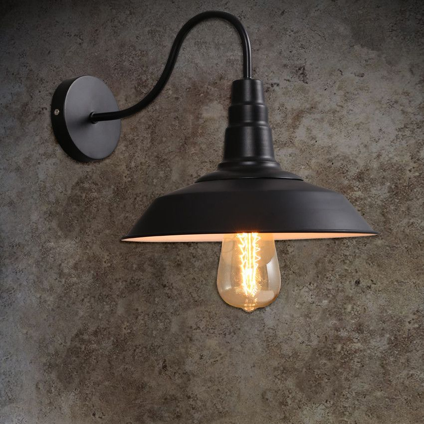 Loft vintage wall lights for home industrial warehouse for Outdoor sconce lighting fixtures