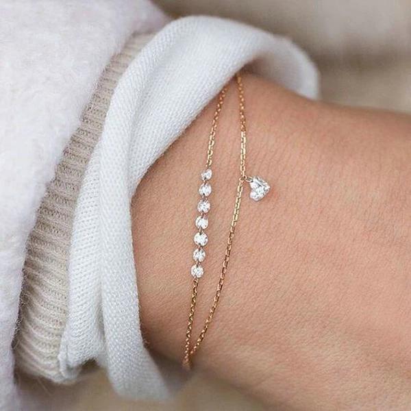 Photo of Fashion Simple Pretty Women Rhinestone Crystal Multilayer Bracelet Ban – elega…