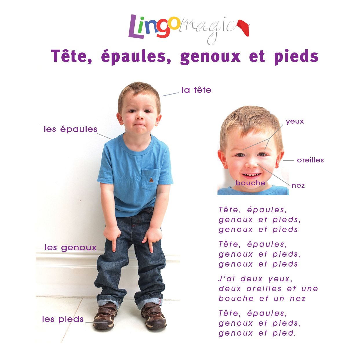 Tete Epaules Genoux Pieds Is A Great Song For Children