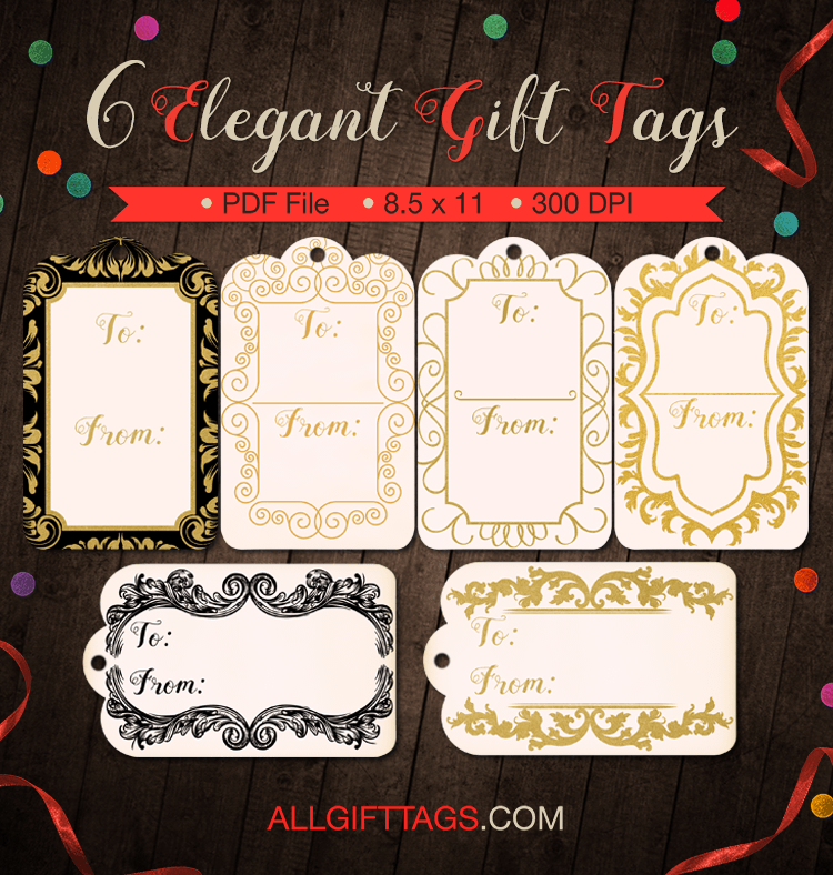 printable elegant gift tags get them in pdf format at http