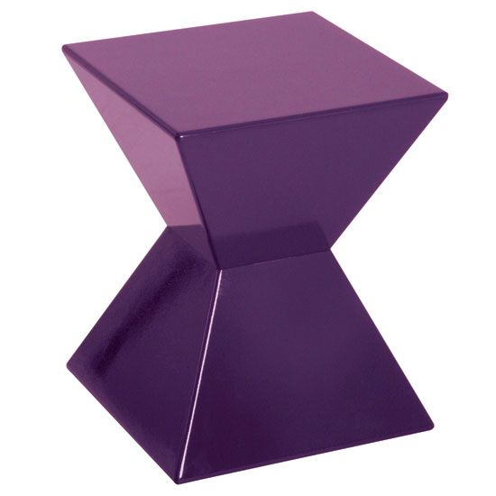 Edge Funky Purple High Gloss Lacquered End Table All Things - Purple high gloss bedroom furniture