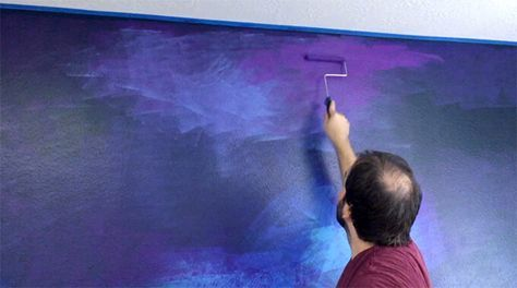 How To Paint A Galaxy Wall Mural In A Spaceship Themed