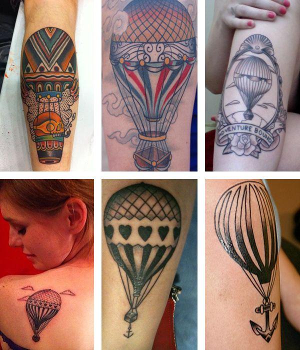 Tattoos fofas: Balões