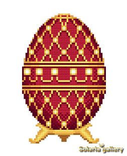 "Pattern ""Red Faberge Egg with Perls"" - PDF download"