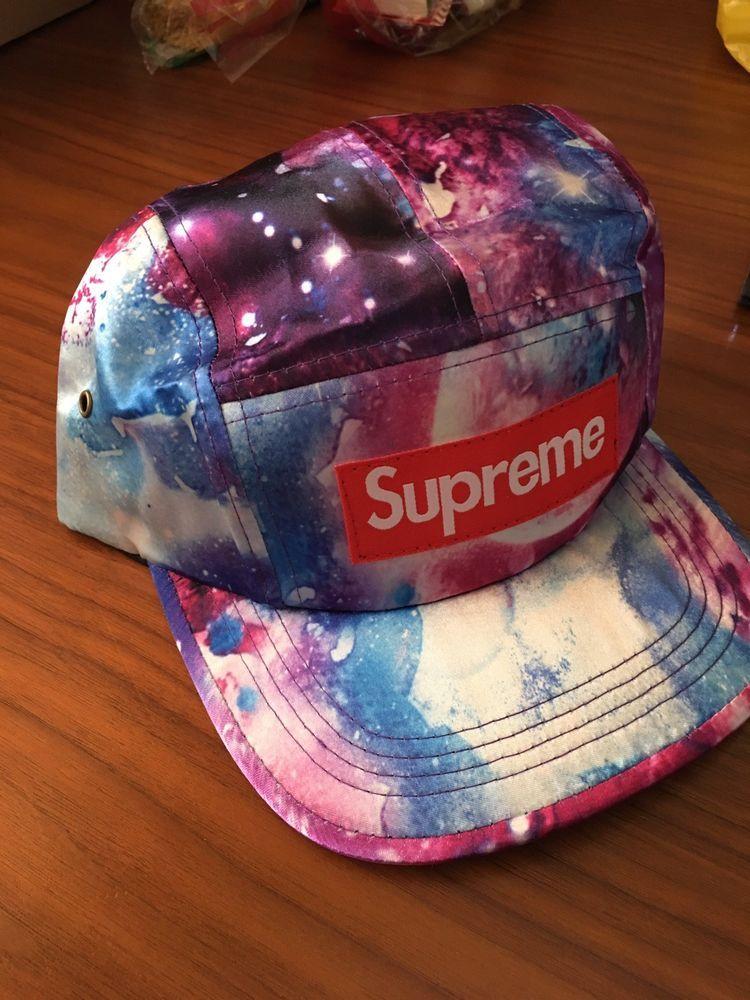 f9dd0b48a5e Supreme Galaxy Cosmo Space Cap 5 Panel Hat with Box Logo USA made  fashion