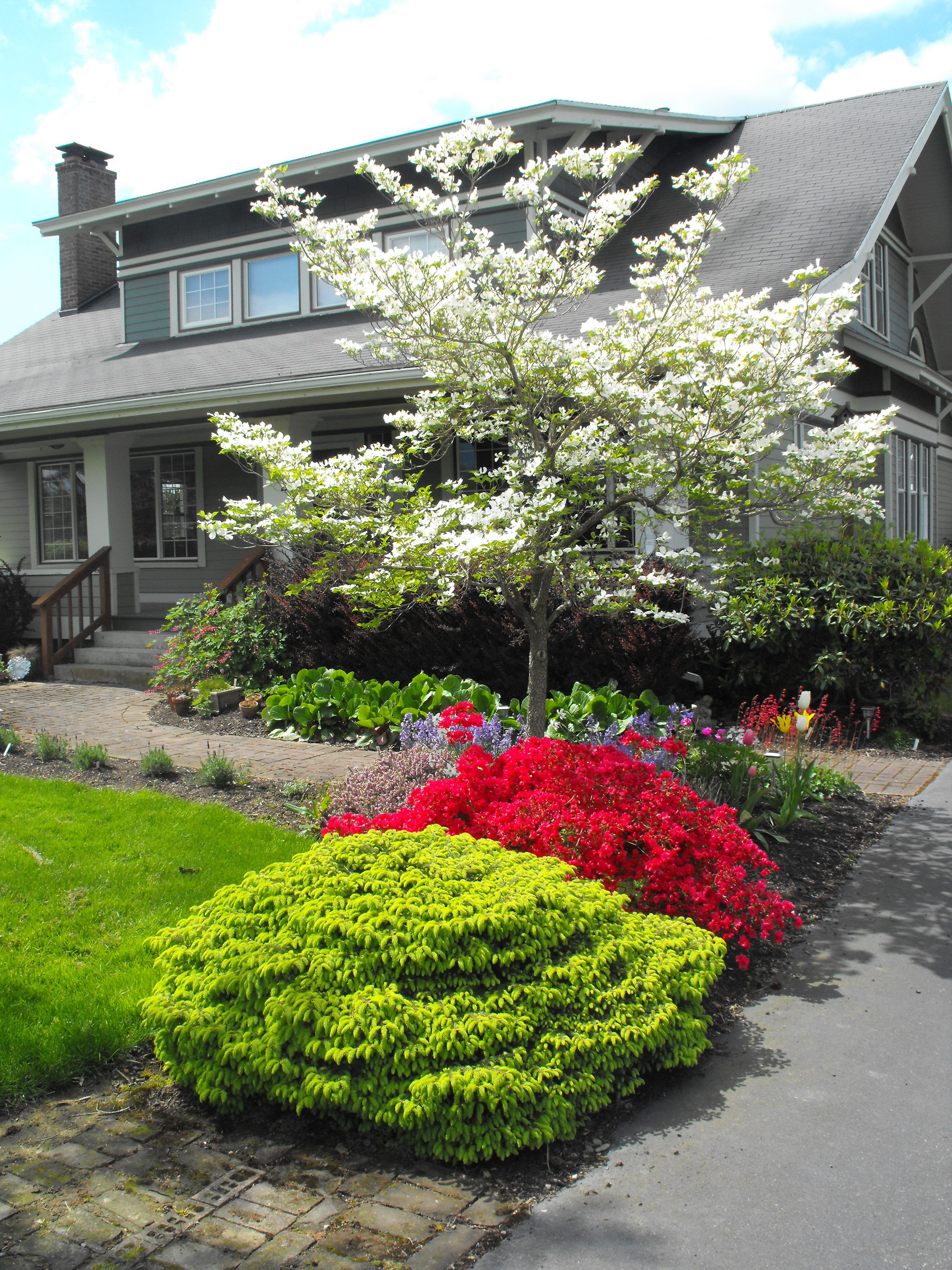 1915 craftsman farmhouse landscaped