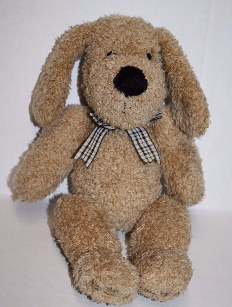 Curly Tan Light Brown Plush DOG Shaggy Fur Soft Toy