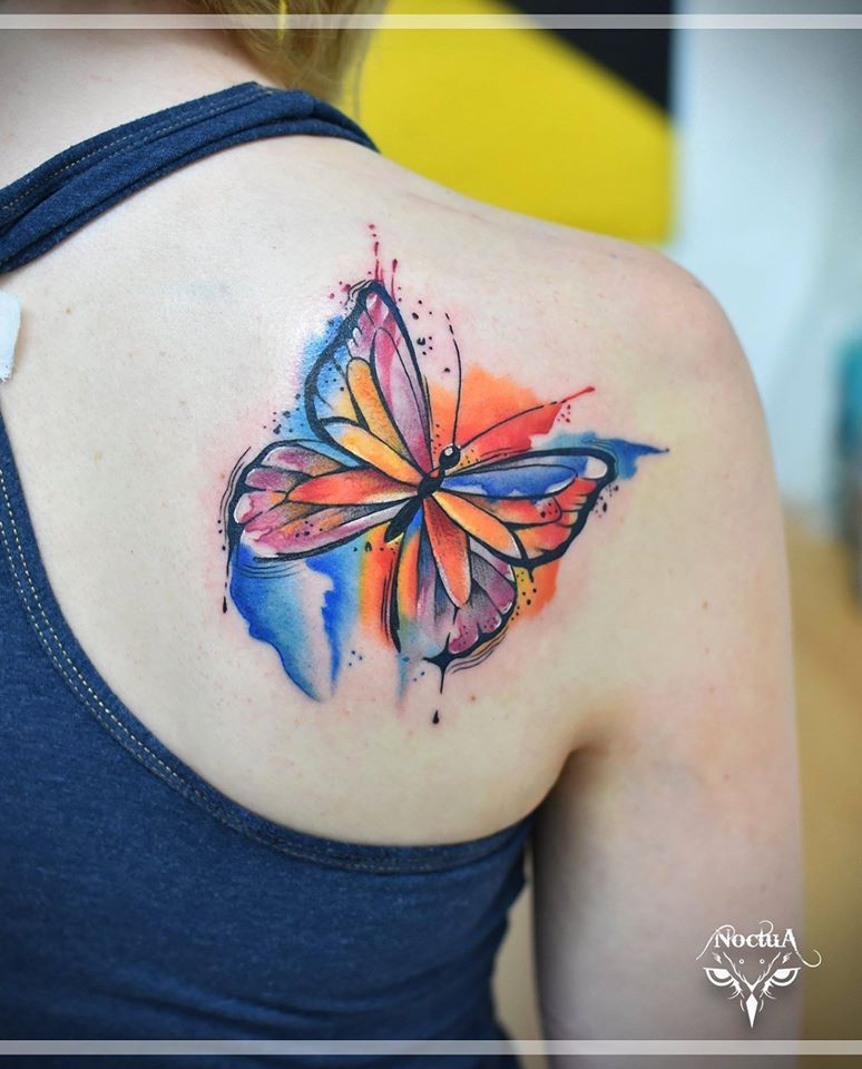 e9a8a59bd #Butterfly #tattoos come in all #shapes, #sizes, #designs, #colors, and  #scenes! If you're looking for #inspiring #tattoos for your next #piece  look no ...