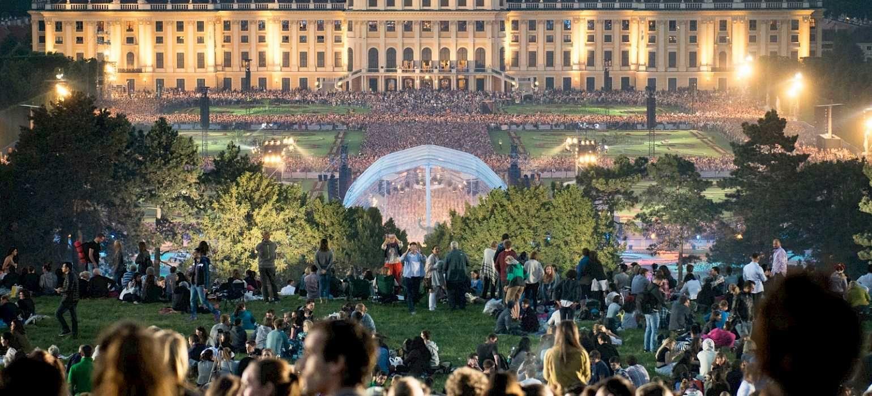 Concert at Schönbrunn Palace in Vienna, Austria. Photo via