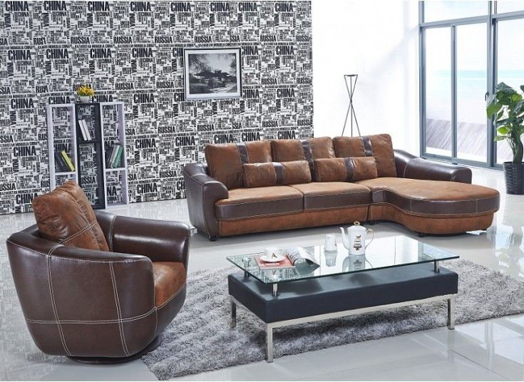 The Suede Leather Sofa S Uniquely Designed With Two Tone Colour