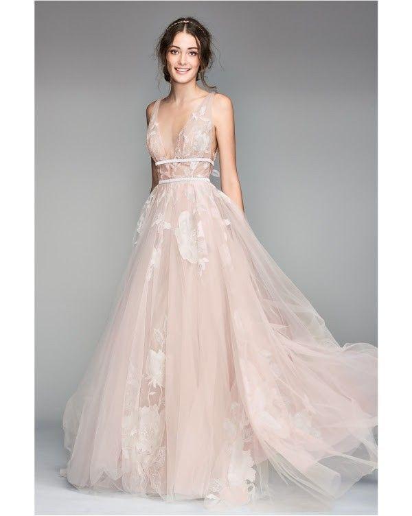 Willowby 50704 Galatea Plunging Neckline Wedding D