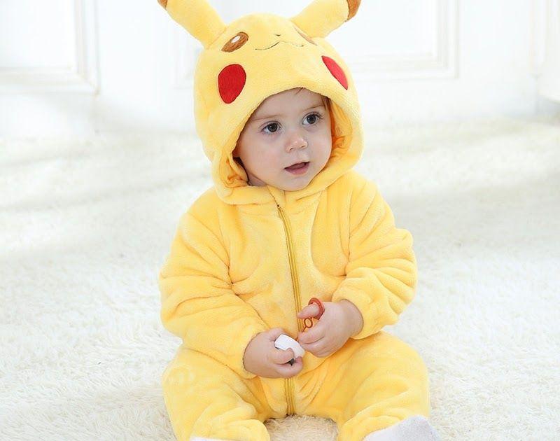 Sale Baby Rompers Baby Girl Clothes Pikachu Kigurumi Kids Onesie
