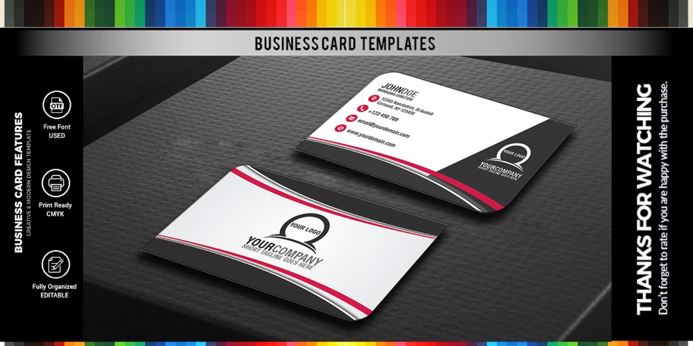 Simple Professional Business Card Design Style Codester Inside Professional Professional Business Card Design Business Card Design Business Card Design Simple