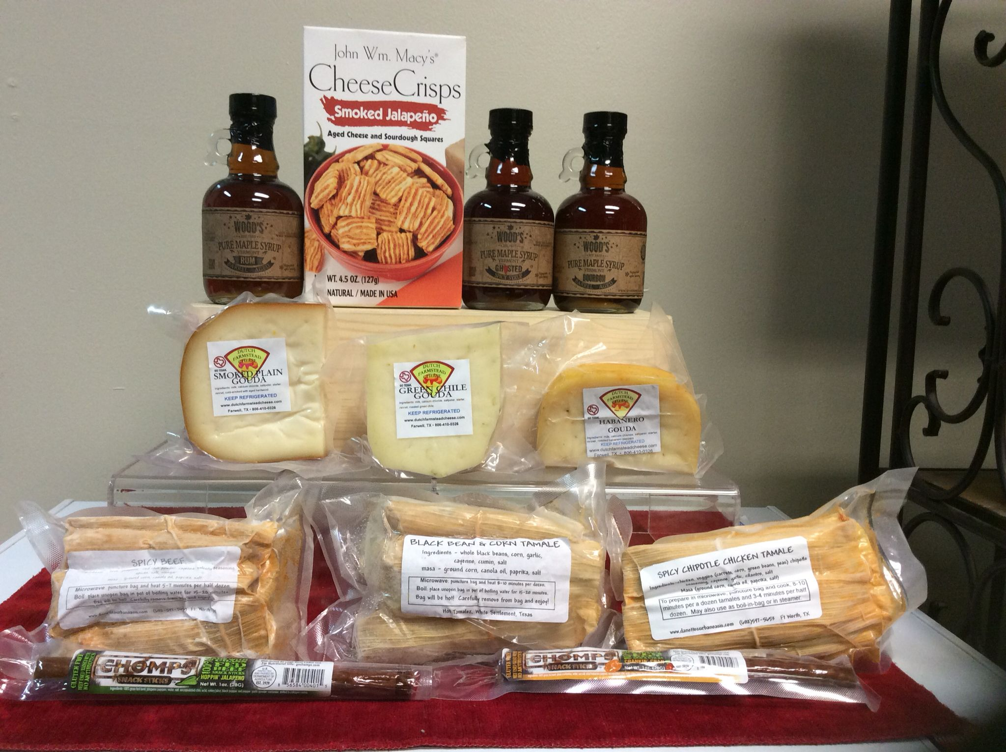 We have selected the best made in usa gourmet foods to add to our we have selected the best made in usa gourmet foods to add to our gift baskets at danettes urban oasis enjoy a woods syrups gouda cheese gluten free negle Gallery