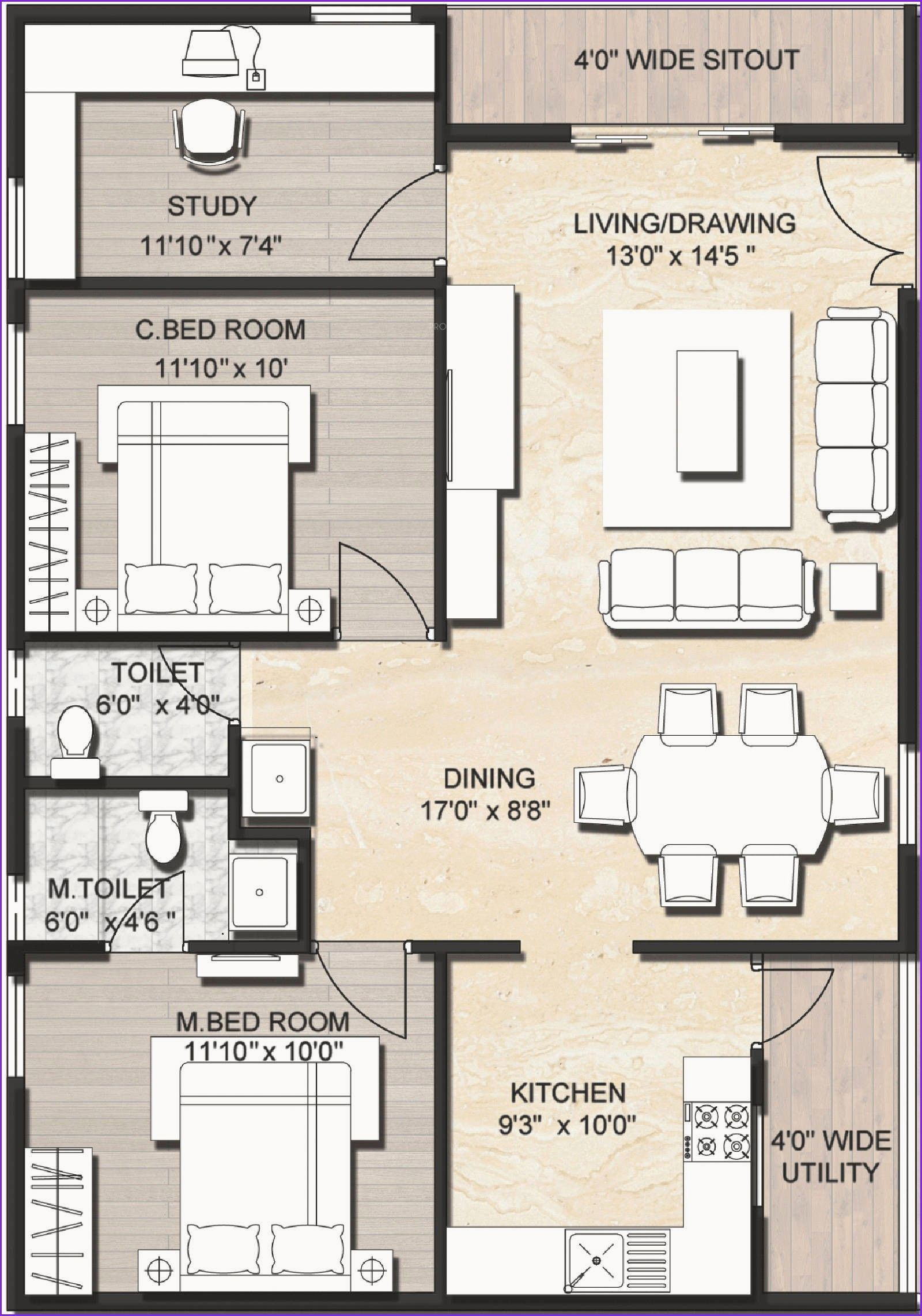 Awesome 900 Square Feet Apartment Model House Plan Indian House Plans 1200 Sq Ft House