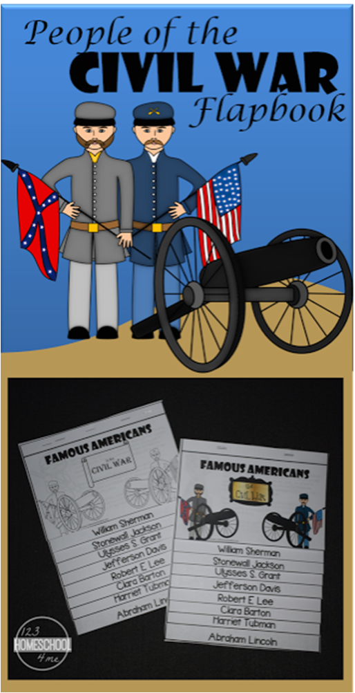 Photo of FREE People of the Civil War Flapbook