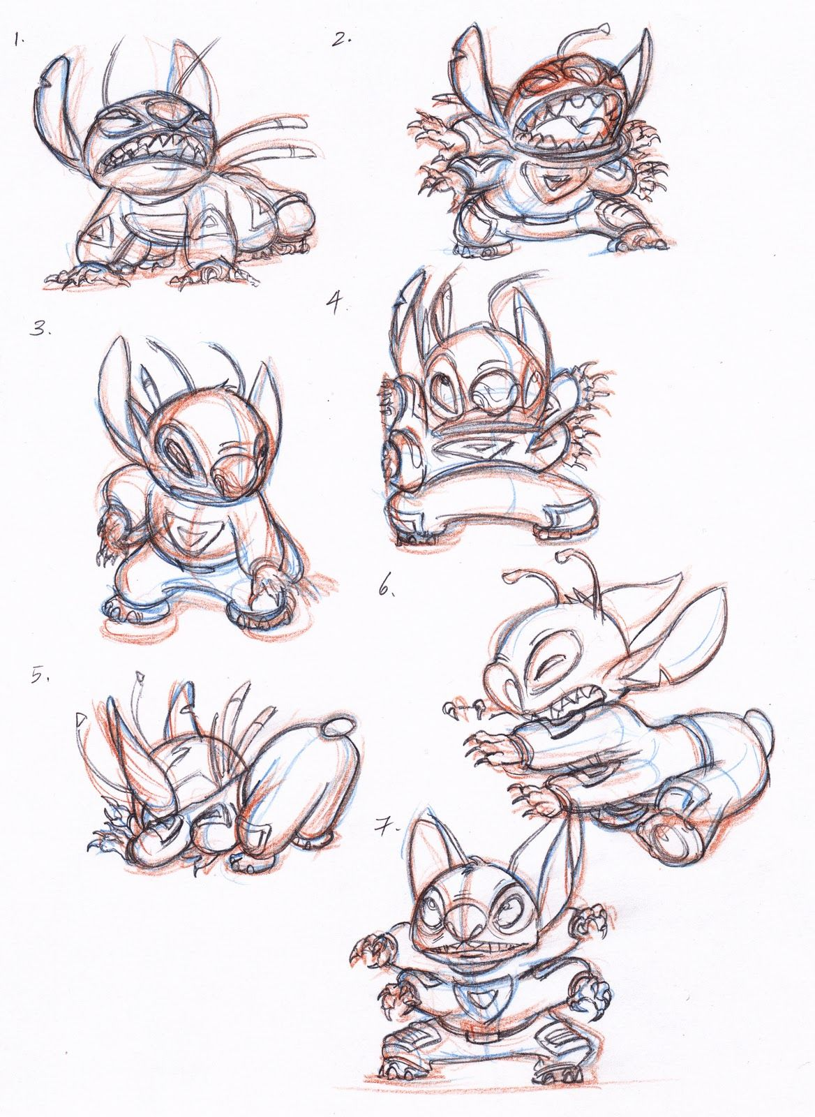 Stitch! Disney drawings