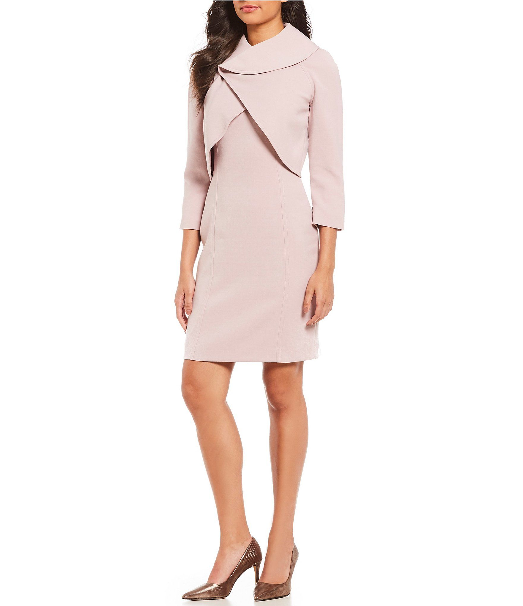 Shop For Tahari Asl Wrap Jacket Dress Suit At Dillards Com Visit