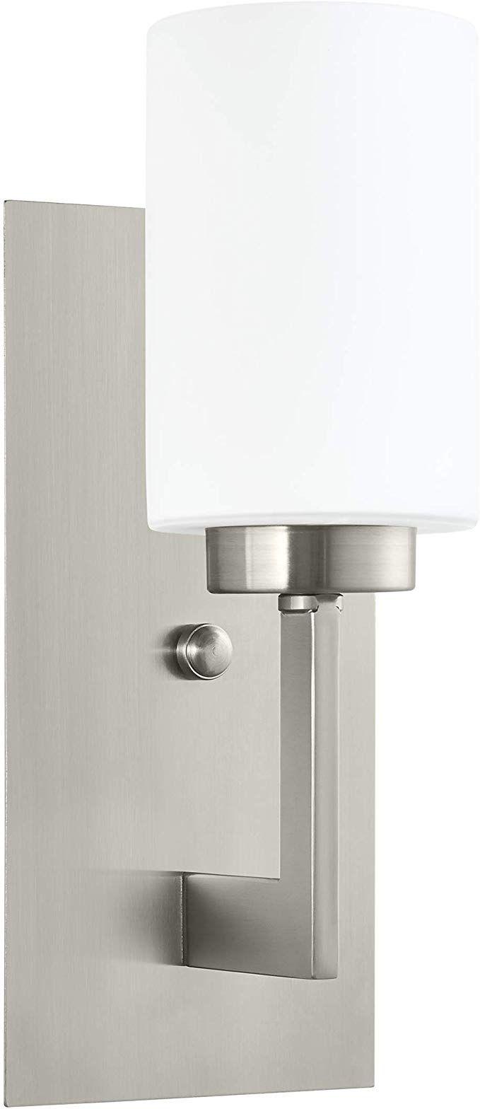 Photo of Brio Wall Sconce Light Fixture | Brushed Nickel Bathroom Wall Fixtures LL-WL151-BN