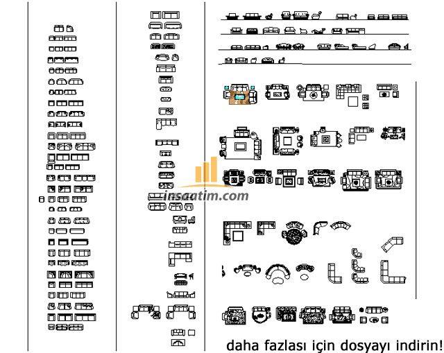 Yüzlerce Autocad Tefriş çizimi Dwg Autocad çizimleri Ve