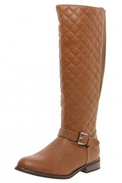 Tamsin Quilted Elastic Back Knee High Boots - Bottes - Chaussures