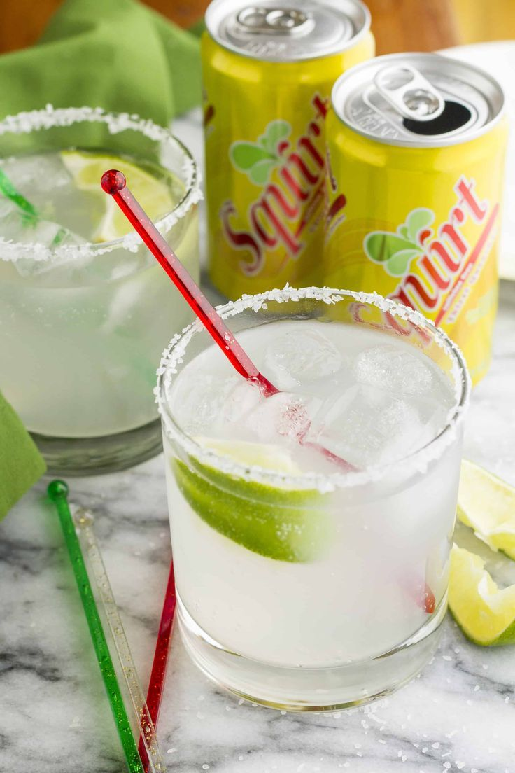 This easy paloma cocktail is made with Squirt grapefruit soda, tequila, lime juice, and a sprinkle of salt -- simple, inexpensive, and delicious! #tequiladrinks