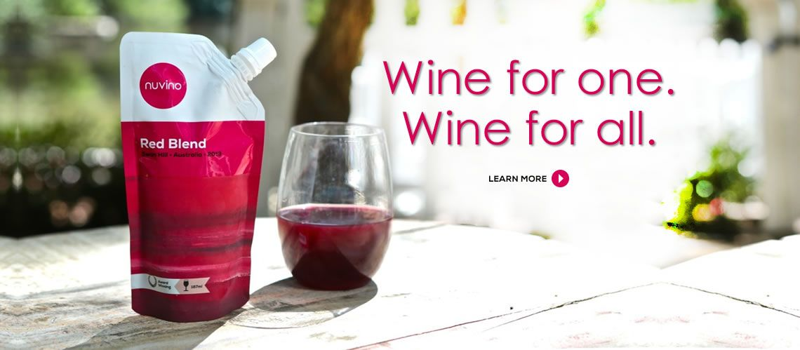 Nuvino – Have wine. Will travel. Wine in a pouch #wine #winery