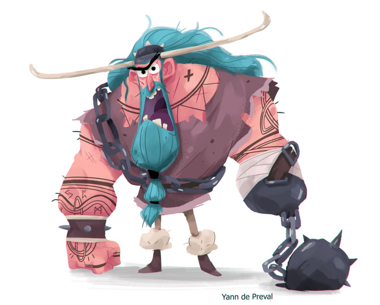 Character Design Challenge Concept : A viking for the character design challenge facebook
