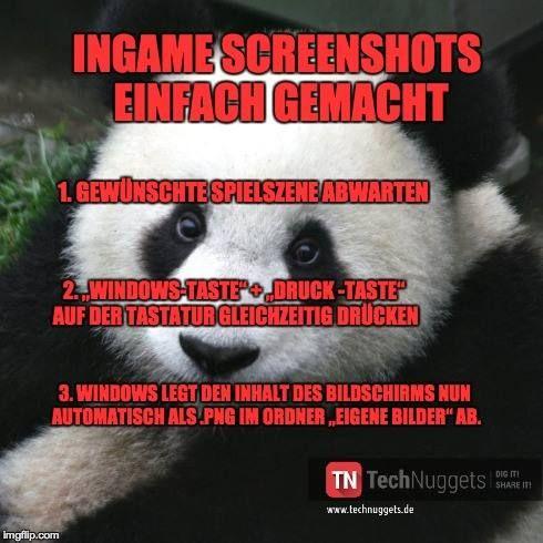 #Technuggets #Tipp #Erklaerbaer #InGame #Screenshot #Anleitung