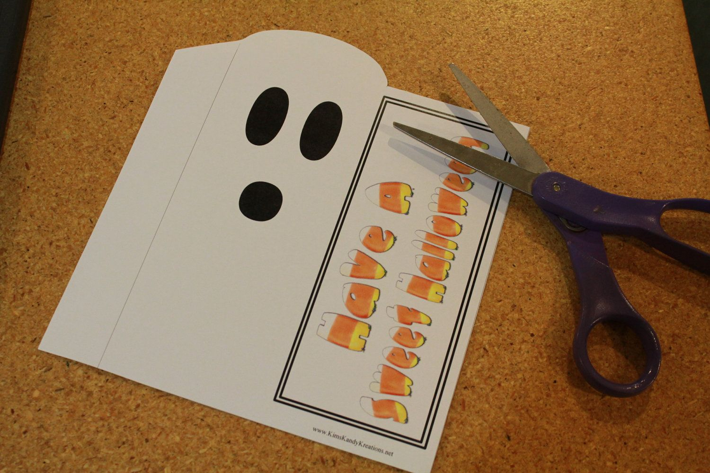 Halloween Ghost Hershey Candy Bar Slider Printable. 2.00