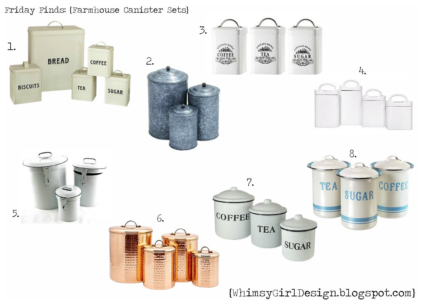 whimsy girl: Friday Finds: {Farmhouse Inspired Canister Sets ...