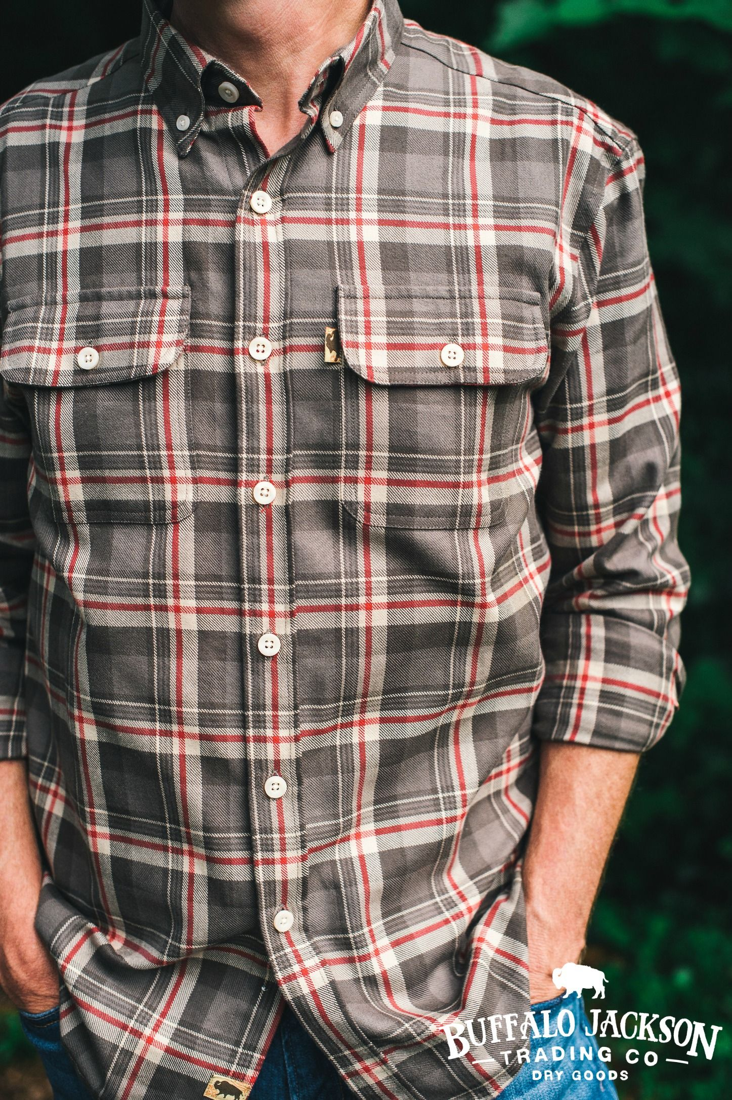 This mens flannel shirt is made of soft sturdy midweight flannel