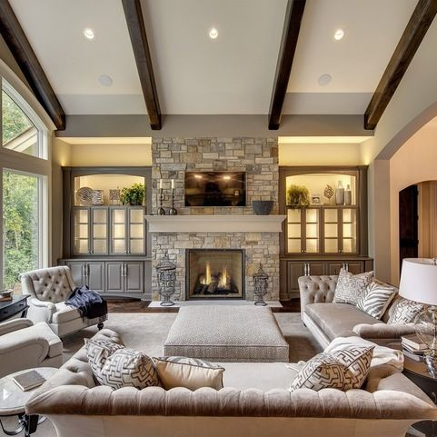 Designs For Living Rooms With Fireplaces Wayzata Dream Home Great Room  Traditional  Living Room