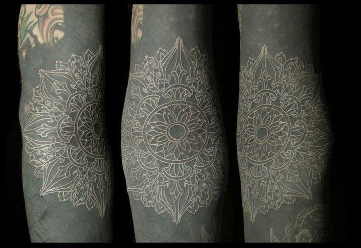 White Ink Over Black White Tattoo Ink Tattoo Black White Tattoos