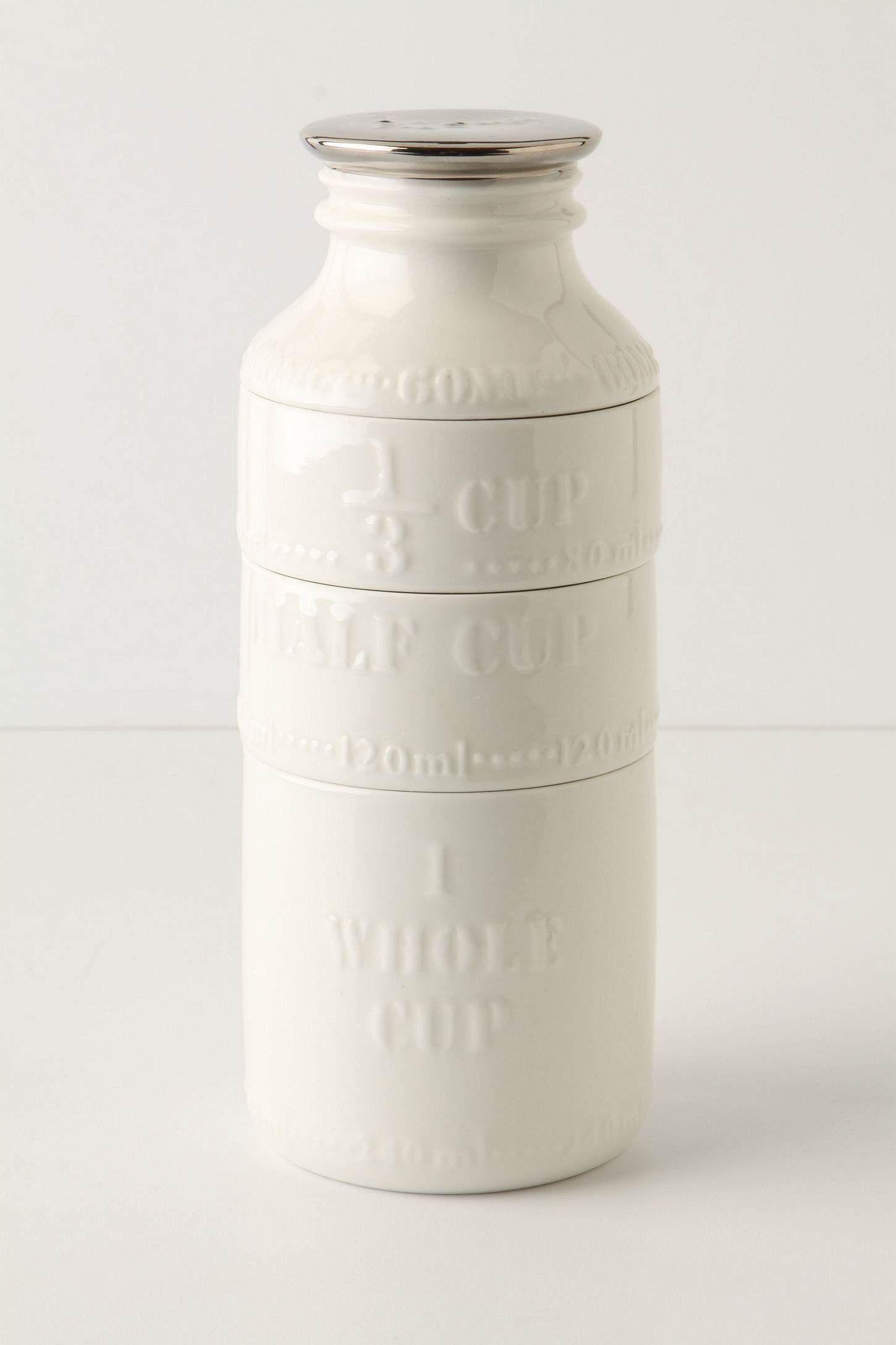 Milk Bottle Measuring Cups from anthropoligie