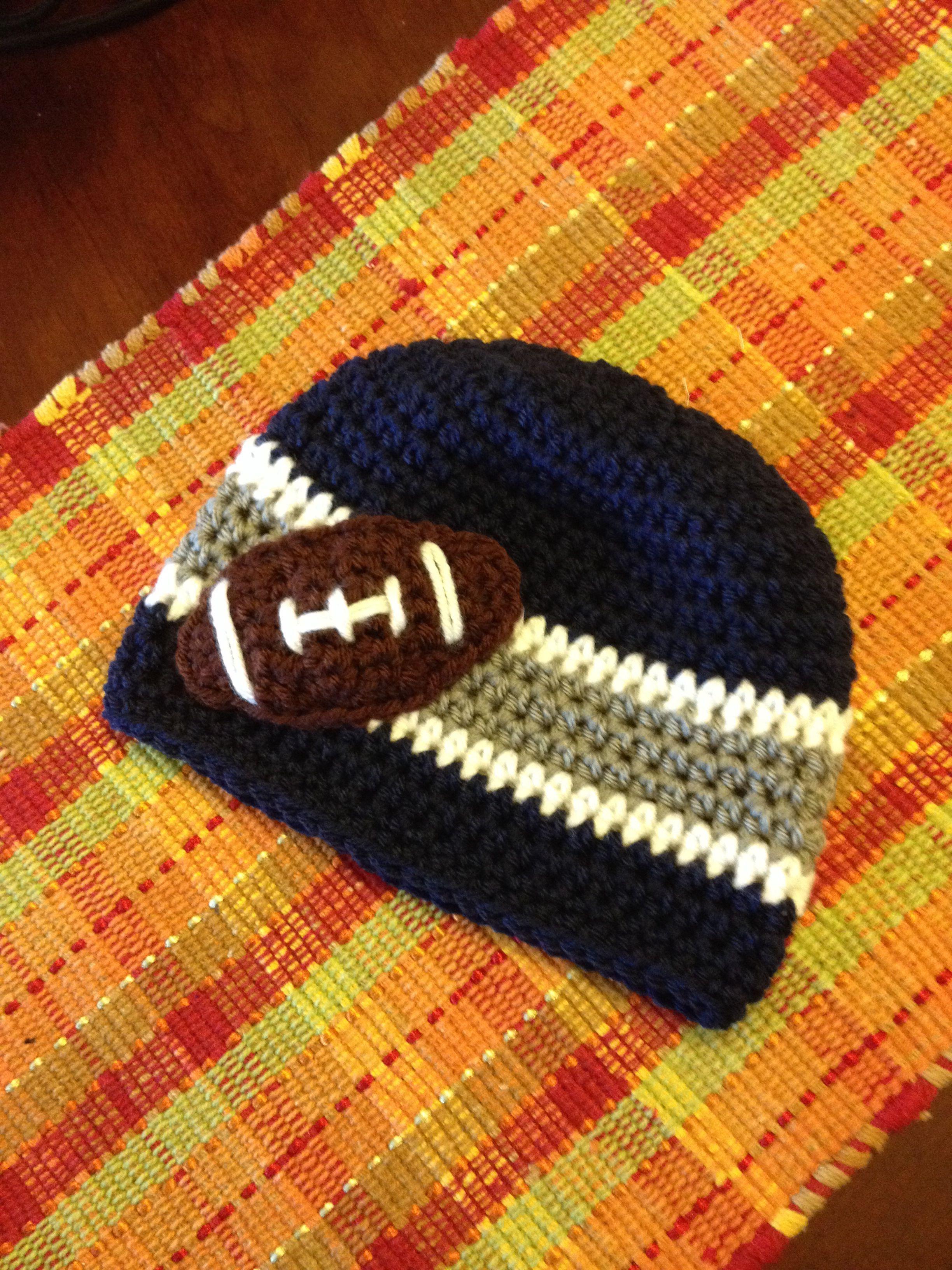 Dallas Cowboys Crochet Baby Hat Pattern : Dallas Cowboys Crochet Hat Sparkling City Crochet ...