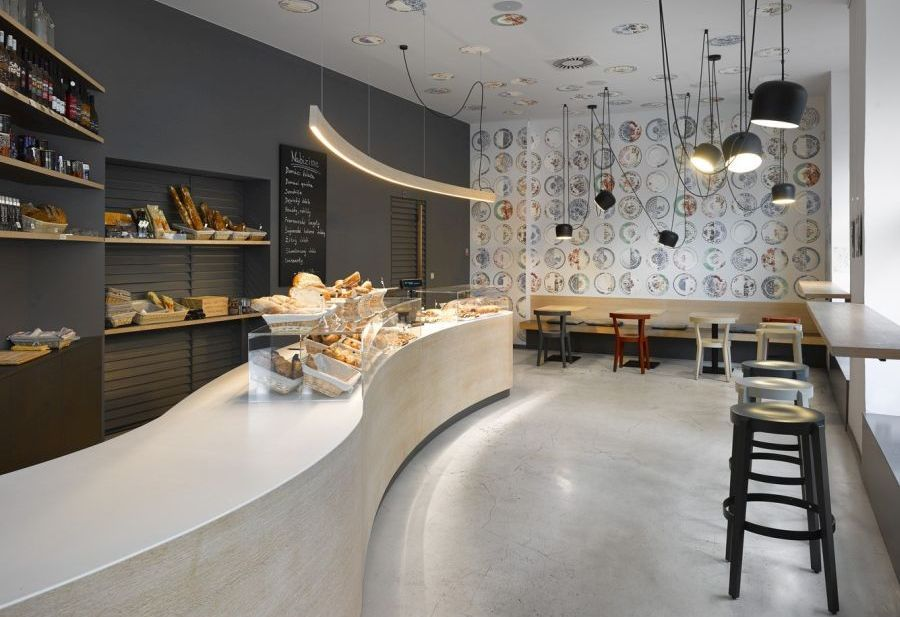 cafe in prague proves minimalist interiors can be playful httpfreshome - Minimalist Cafe 2016