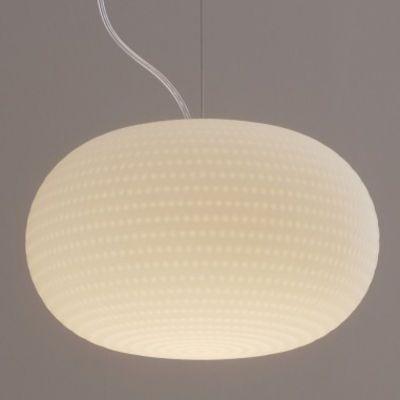 Suspension Bianca LED Verre Blanc Fontana Arte Décoration et