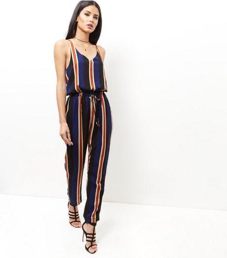 1403c54e75a Mela Blue Stripe Jumpsuit