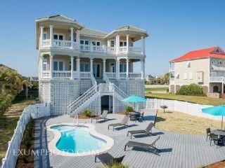 Perfect For Weddings Luxury Oceanfront Heated Homeaway Ocean Isle Beach Ocean Isle Beach Beach House Rental House Rental
