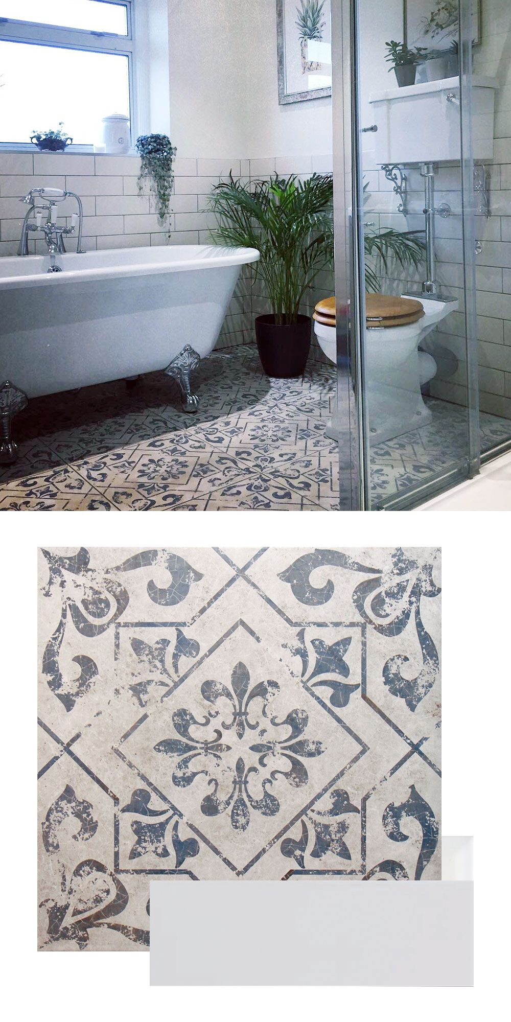 Photo of Ceri Created A Characterful Bathroom With Brick and Pattern Tiles